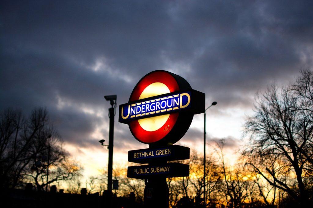 Bethnal Green London Underground Sign