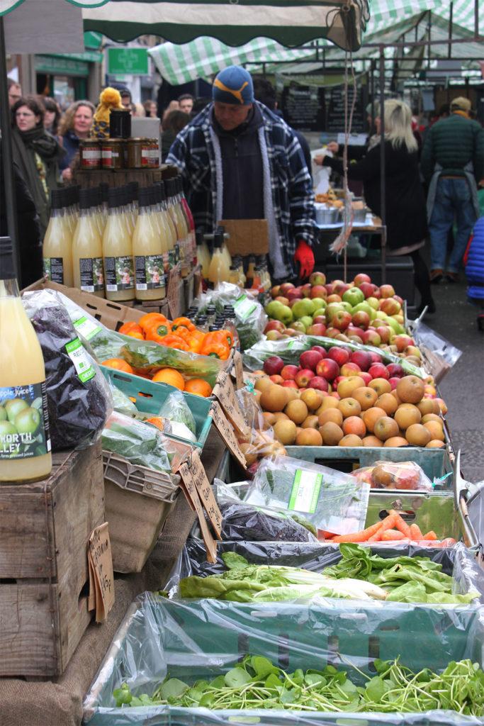 Broadway Market London Fruit and Veg Stall