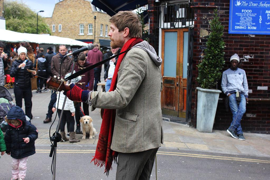 Broadway Market London Street Performer