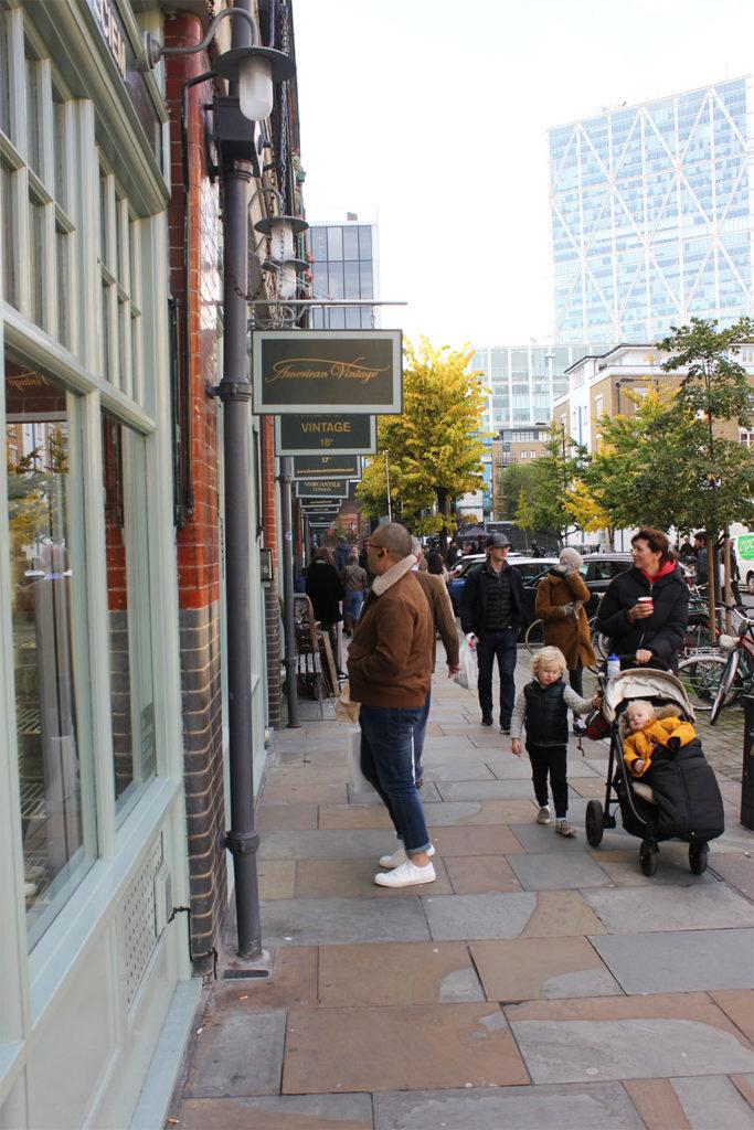 Outside Spitalfields Market