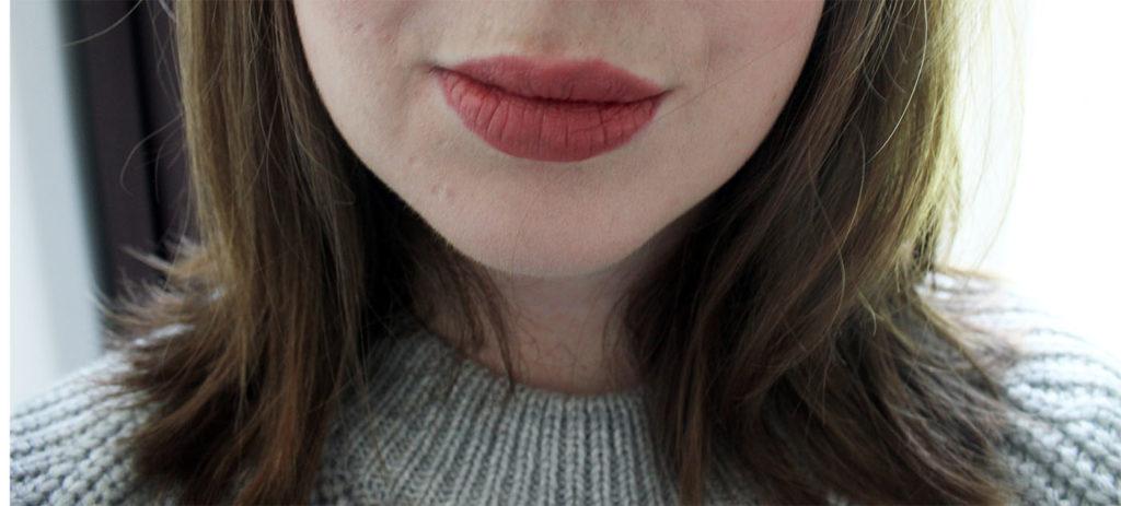 nars anita lipstick on lips