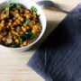 chickpea and spinach pilaf