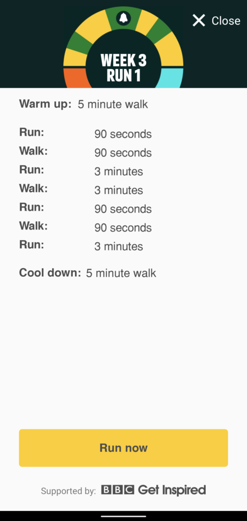 Couch to 5K Week 3