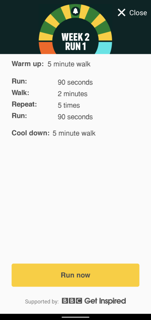 Couch to 5K Week 2