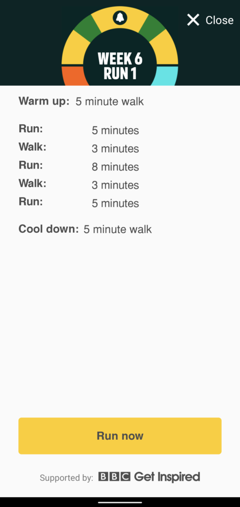 Couch to 5K Week 6 Run 1