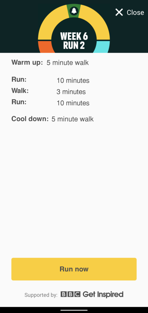 Couch to 5K Week 6 Run 2